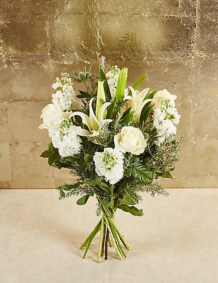 Autograph White Mistletoe Bouquet Ms