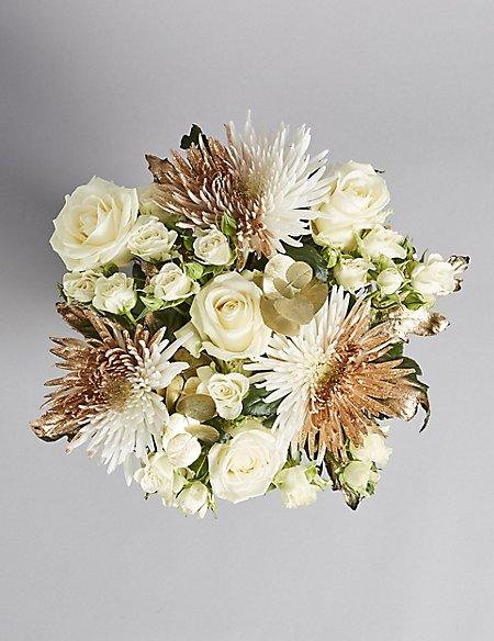 Sparkling gold flower bouquet ms sparkling gold flower bouquet mightylinksfo
