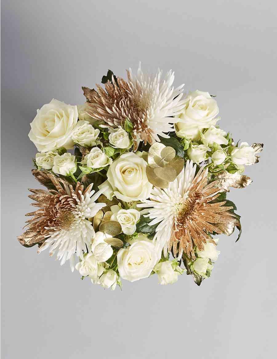 Sparkling Gold Flower Bouquet Ms