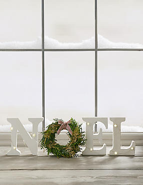 Christmas Letterbox Mini Wreath NOEL Decoration (Available for delivery from 15th Nov 2018)
