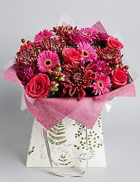 Autumn Pink & Purple Large Gift Bag
