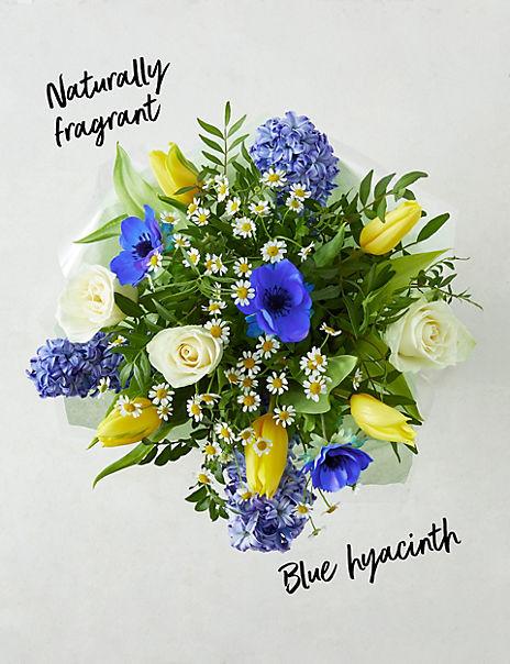 Blue & White Seasonal Gift Bag