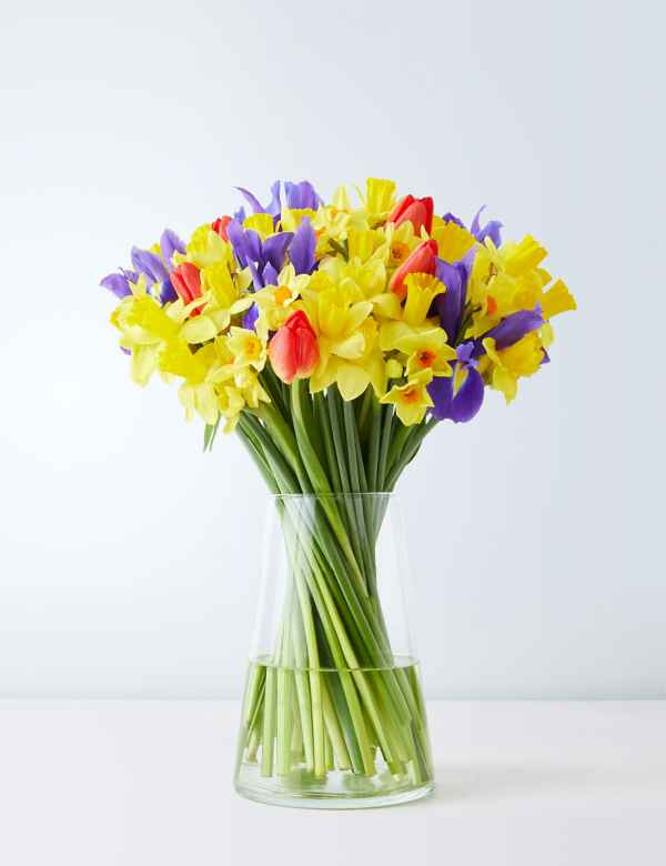50 Stem Abundance Of Spring Letterbox Flowers Free Delivery