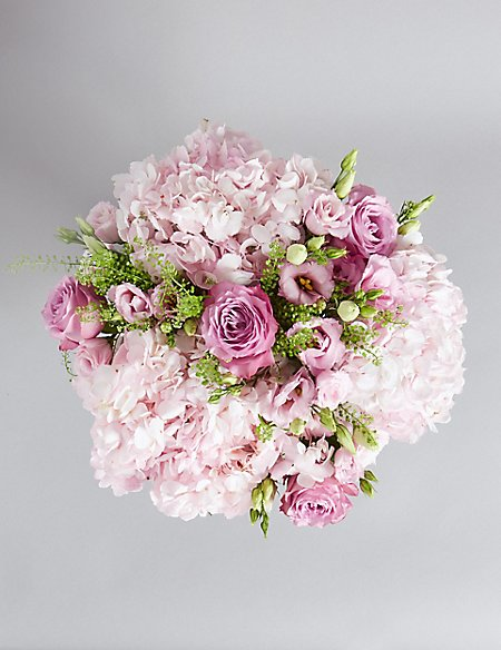 The Collection Pink Rose & Hydrangea Bouquet