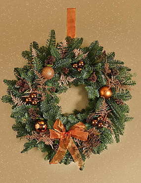 the collection christmas wreath available for delivery from 14th november to 16th december 2018