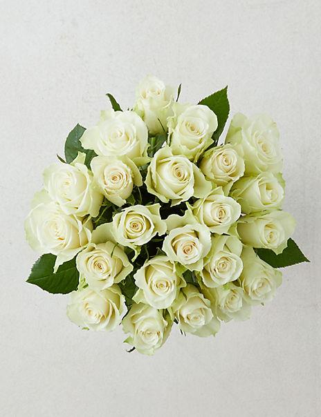 Fairtrade® White Rose Bouquet