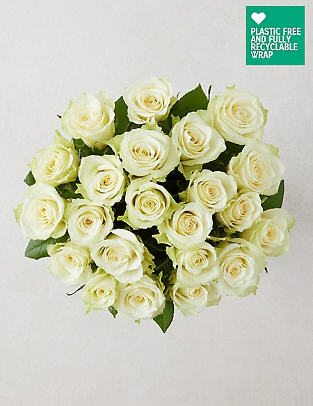 Fairtrade white rose bouquet ms fairtrade white rose bouquet mightylinksfo