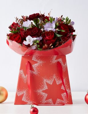 Christmas Rose Freesia Flower Gift Bag 3500