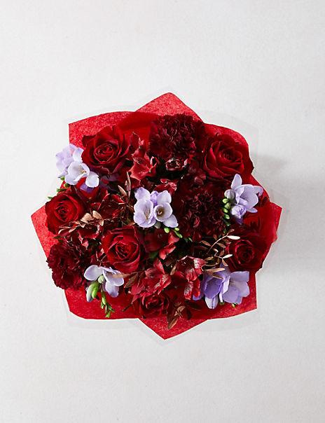 Christmas Rose & Freesia Gift Bag