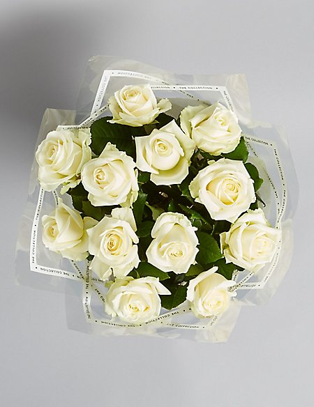 The Collection White Roses (Available until 2nd May)
