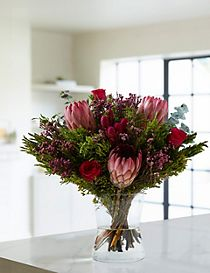 Protea & Rose Posy (Available for delivery from 23rd Oct 2018)