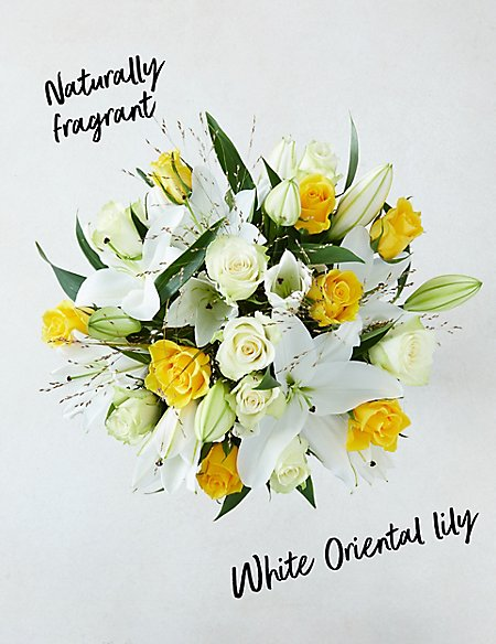 Yellow Rose & Lily Bouquet