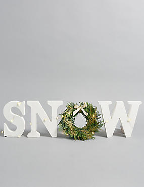 Christmas Postal Letterbox SNOW Decoration