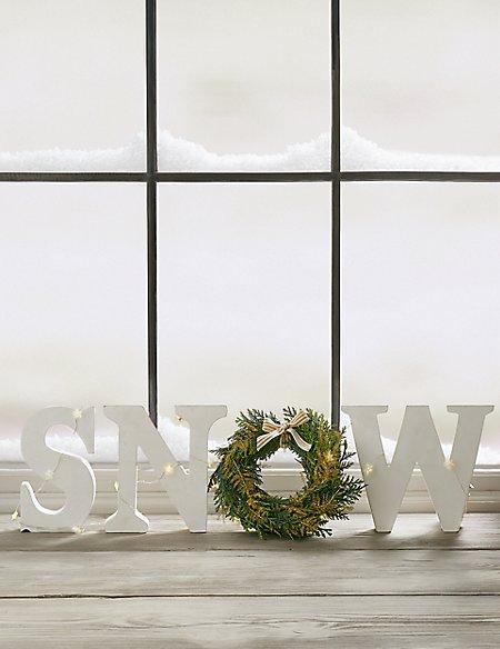 Christmas Postal Letterbox SNOW Decoration