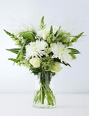 Serene White Flower Bouquet
