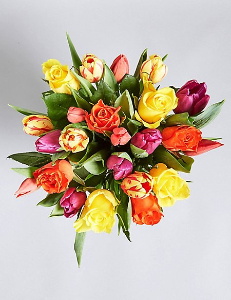 Vibrant Spring Bouquet with Free Vase (Available until 2nd May)