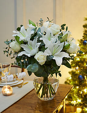 Christmas Rose & Lily Bouquet