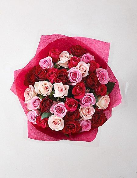 Pink Mixed Rose Bouquet