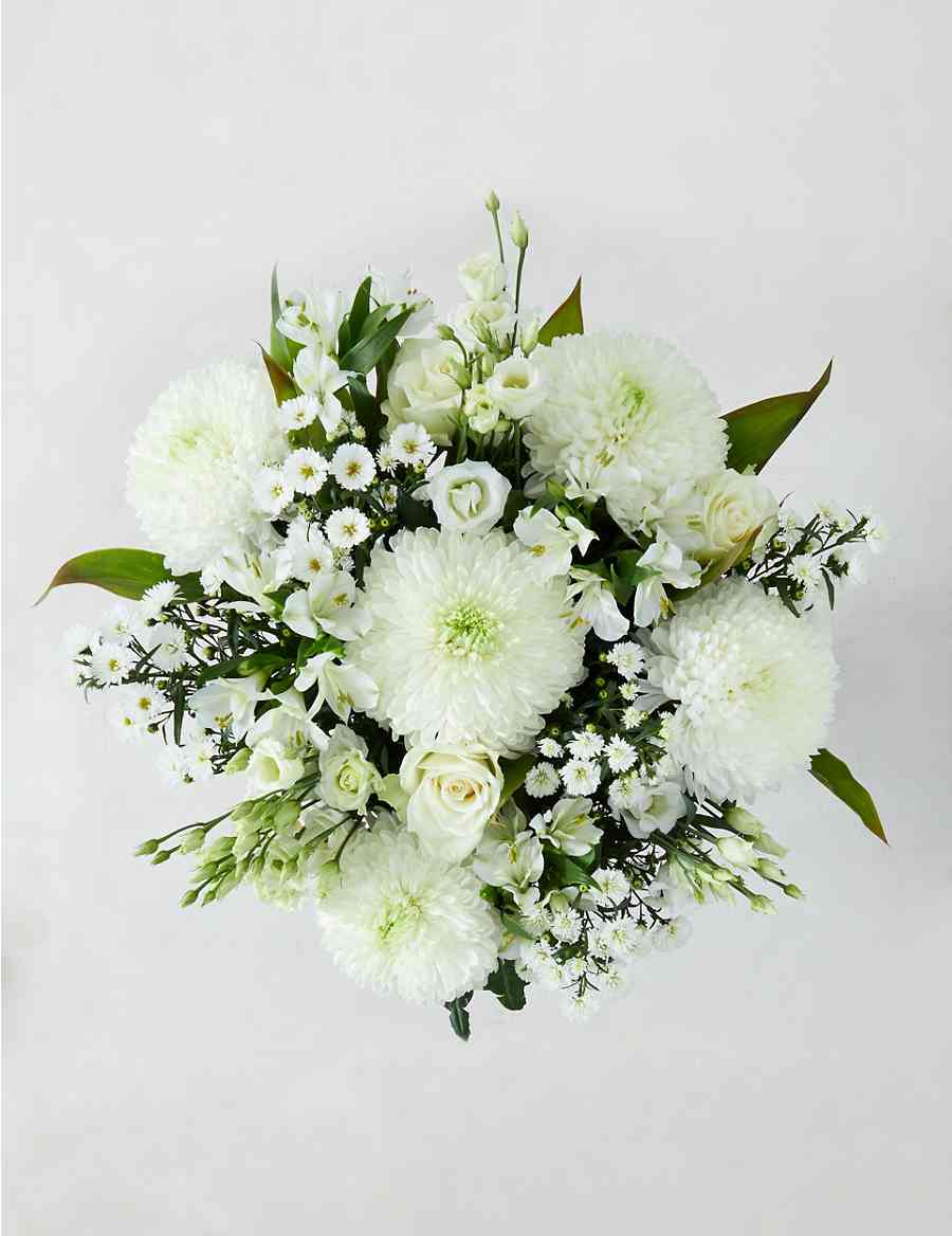 Serene White Flower Bouquet Ms