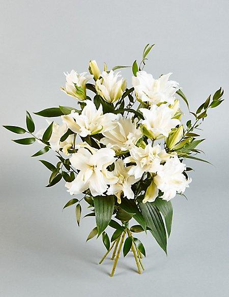 Autograph™ White Double Lilies