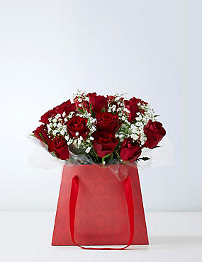 Valentines Day Flowers Luxury Rose Gift Bags For Him Her M S