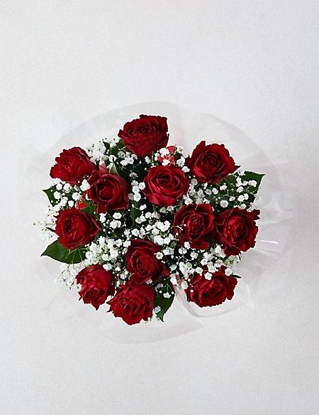 Valentine's Be Mine Dozen Rose Gift Bag