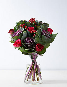 Brassica & Rose Bouquet