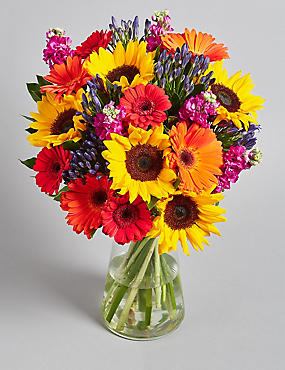 Summer Sunflower & Gerbera Bouquet