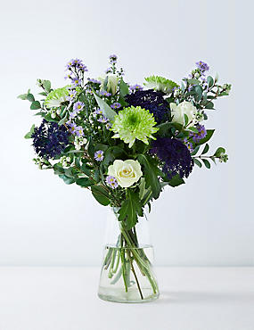 Autumn Stocks & Brassica Bouquet