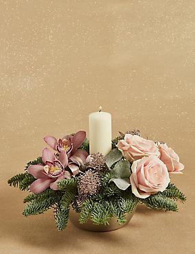 The Collection Frosted Christmas Arrangement