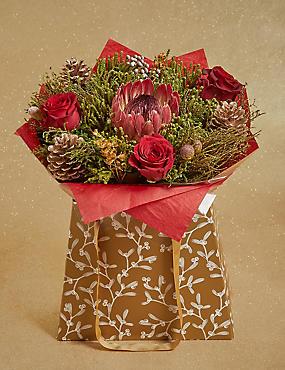 Sparkling Christmas Cape Flower Gift Bag