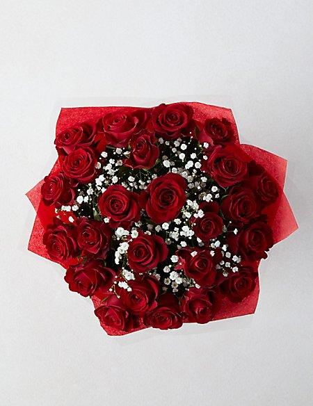 Valentine's Two-Dozen Red Rose Gift Bag