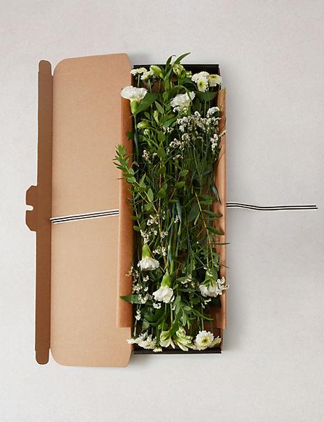 White Flower Letterbox Gift – Large