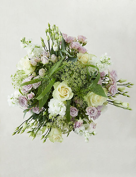 The Collection White & Lilac Bouquet