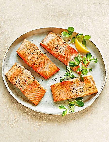 Wild Alaskan Sockeye Salmon Fillets ( 4 pieces)
