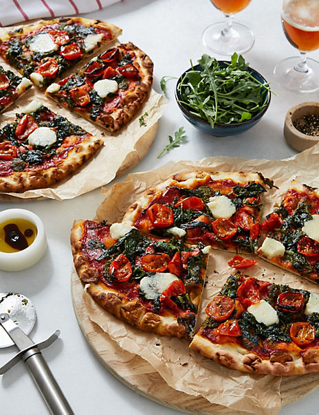 Plant Kitchen Woodfired Margherita Pizza (Serves 4)