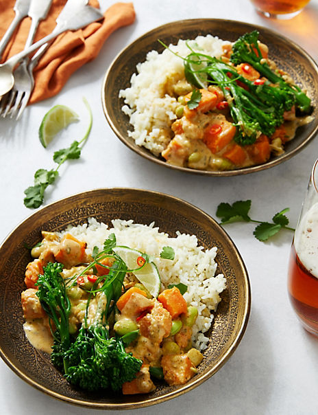 Plant Kitchen Thai Green Curry with Rice (Serves 2)
