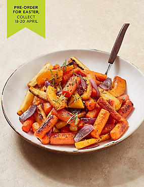 Roasting Vegetables (Serves 4) - Pre-Order: Collect between 5th & 20th December