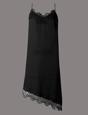 4bf50e53a46 Satin Asymmetric Hem Dress