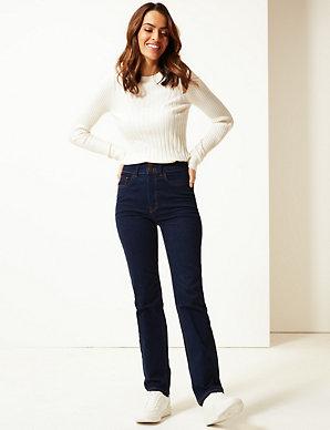 Ex M/&S Womens Ladies Roma Rise Slim Fit Leg Stretchy Jeans Marks Spencer Per Una