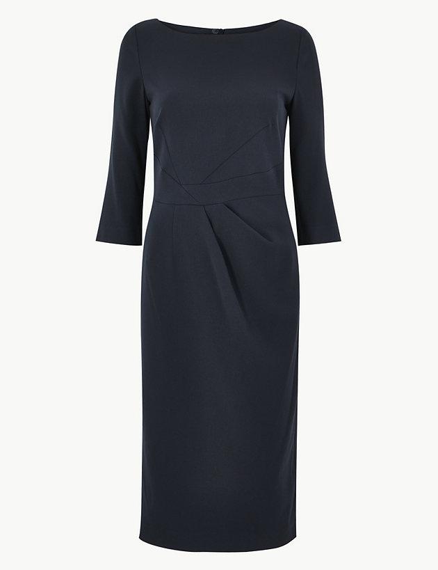 Seam Detail Bodycon Knee Length Dress