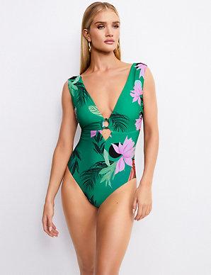 fccc357f5e9 Secret Slimming™ Floral Print Plunge Swimsuit   Rosie for Autograph ...