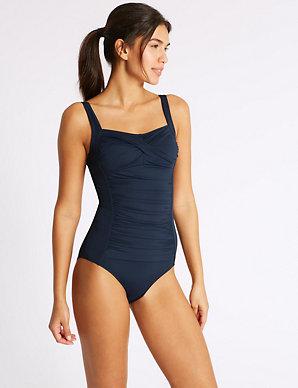 6de88c50c5 Secret Slimming™ Non-Wired Longer Length Swimsuit | M&S Collection | M&S