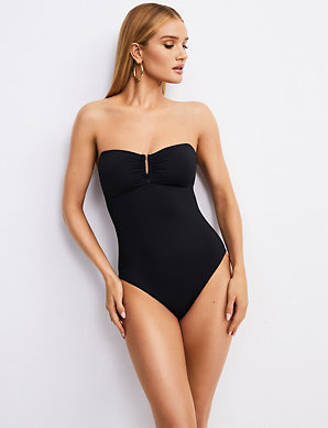 1ac73100ac3 Secret Slimming™ Padded Bandeau Swimsuit | Rosie for Autograph | M&S
