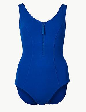43ce6a3b097 Secret Slimming™ Zip-Up Swimsuit | M&S Collection | M&S