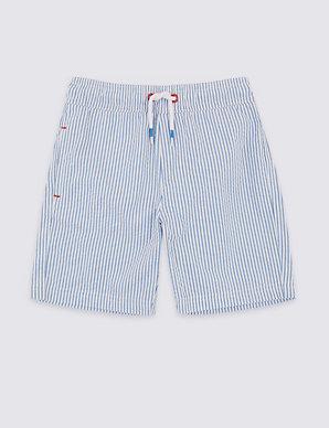 64469bae54 Seersucker Swim Shorts (3 Months - 7 Years) | M&S