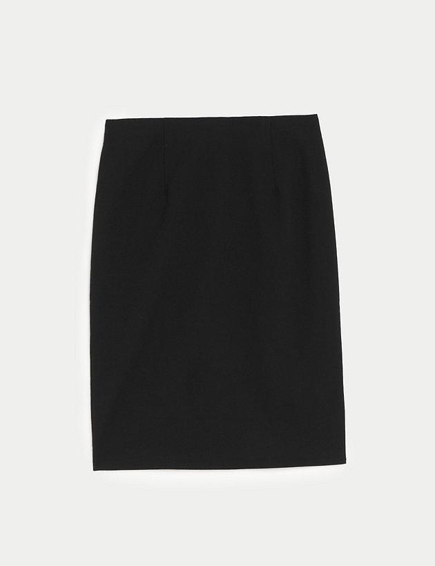 Made in UK Girls Kids Back Zip Fastening Pencil Skirt in Grey Black 3 Length