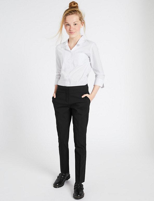 Girls Grey School Trousers LAST FEW SALE PRICE Belted Straight Legged Adjustable