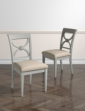 Set Of 2 Darcey Painted Dining Chairs Ms