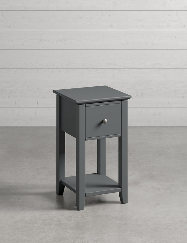 Hastings Dark Grey Small Bedside Tables